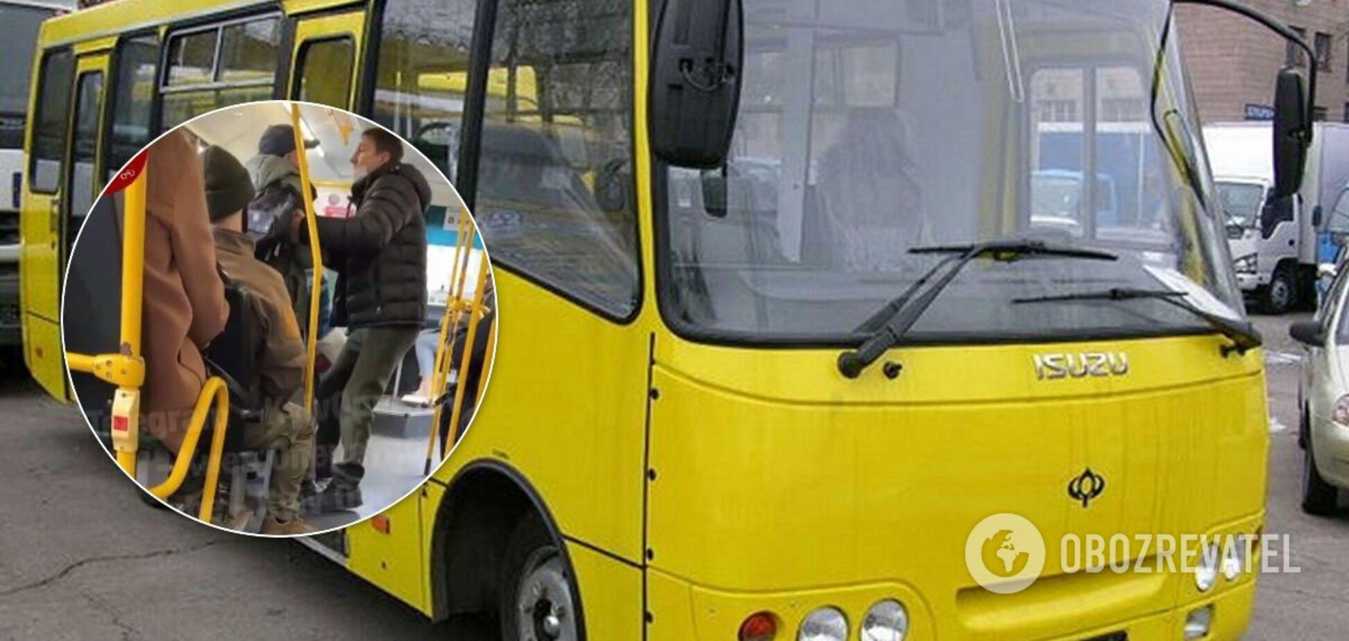 В киевской маршрутке произошел конфликт между пассажиром и водителем