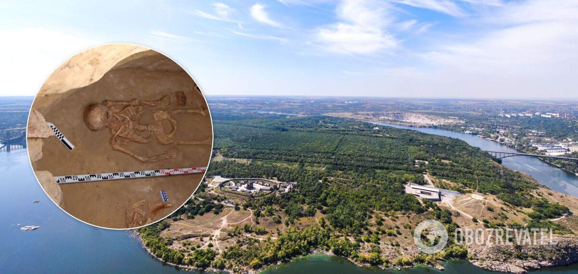На Хортиці знайдено вціліле поховання скіфського воїна