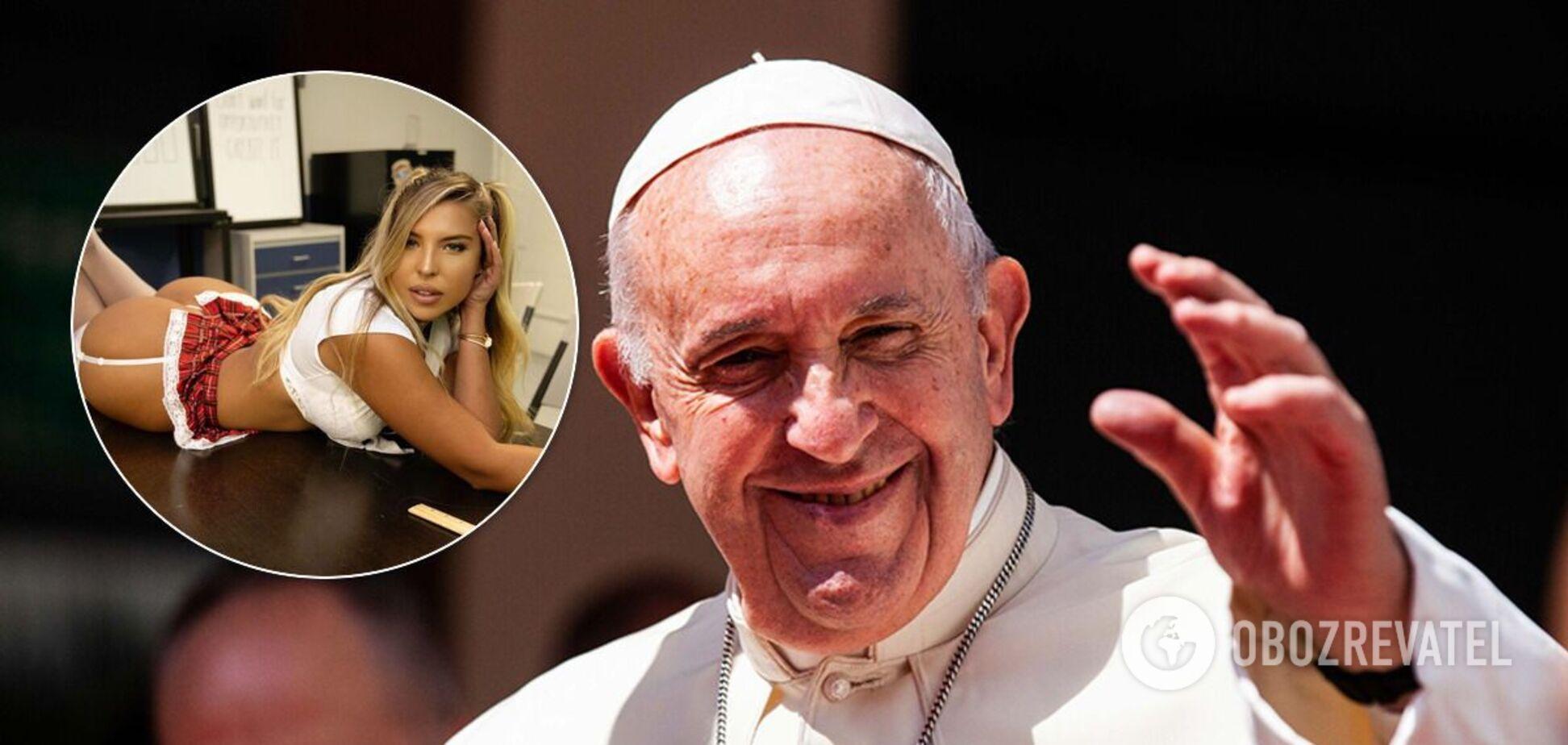 Папа Римський поставив лайк під знімком моделі Наталії Гаріботто