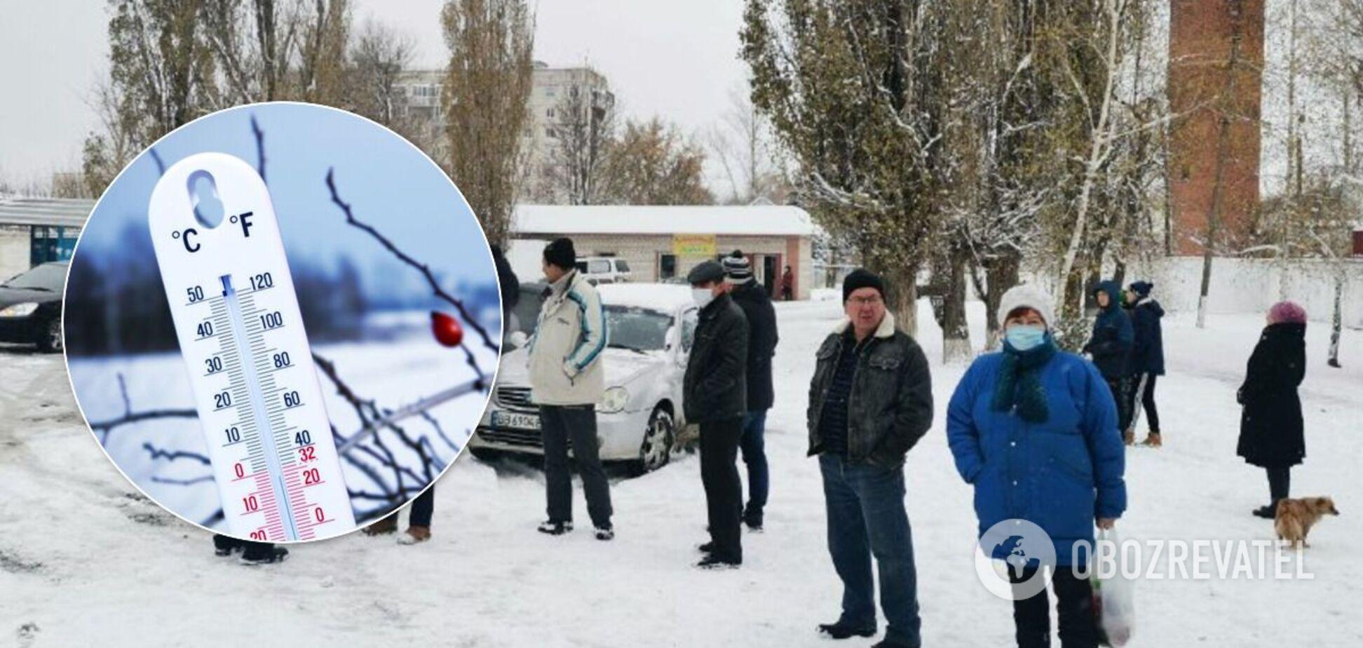 На Харківщині люди перекрили дорогу через відсутність опалення в будинках. Фото