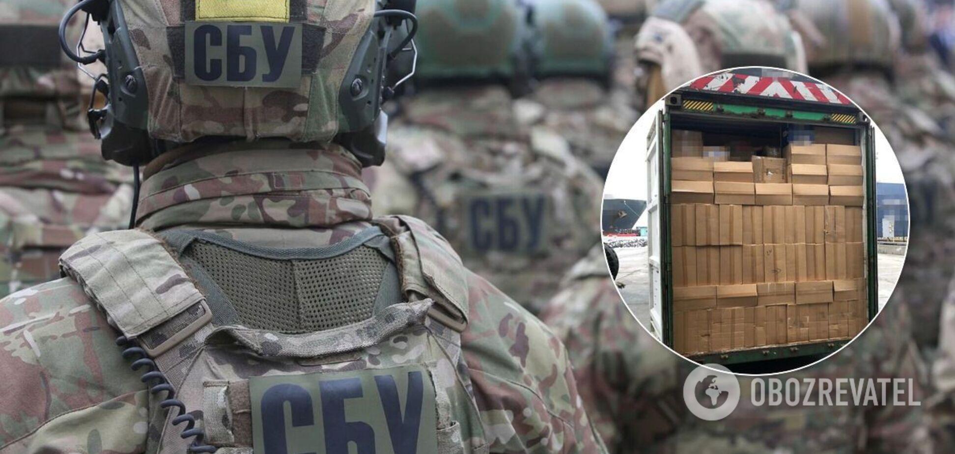 СБУ обнаружила крупную партию контрабандных сигарет
