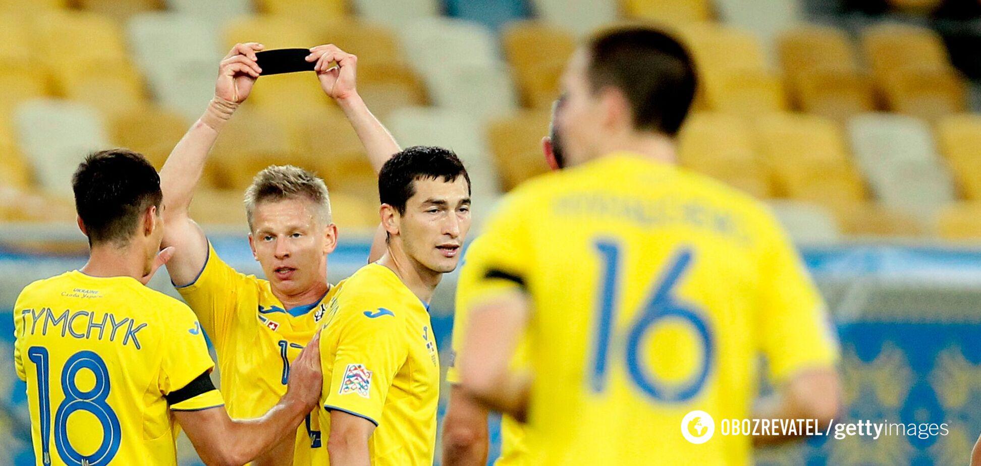 Гравці збірної України святкують гол у ворота Швейцарії
