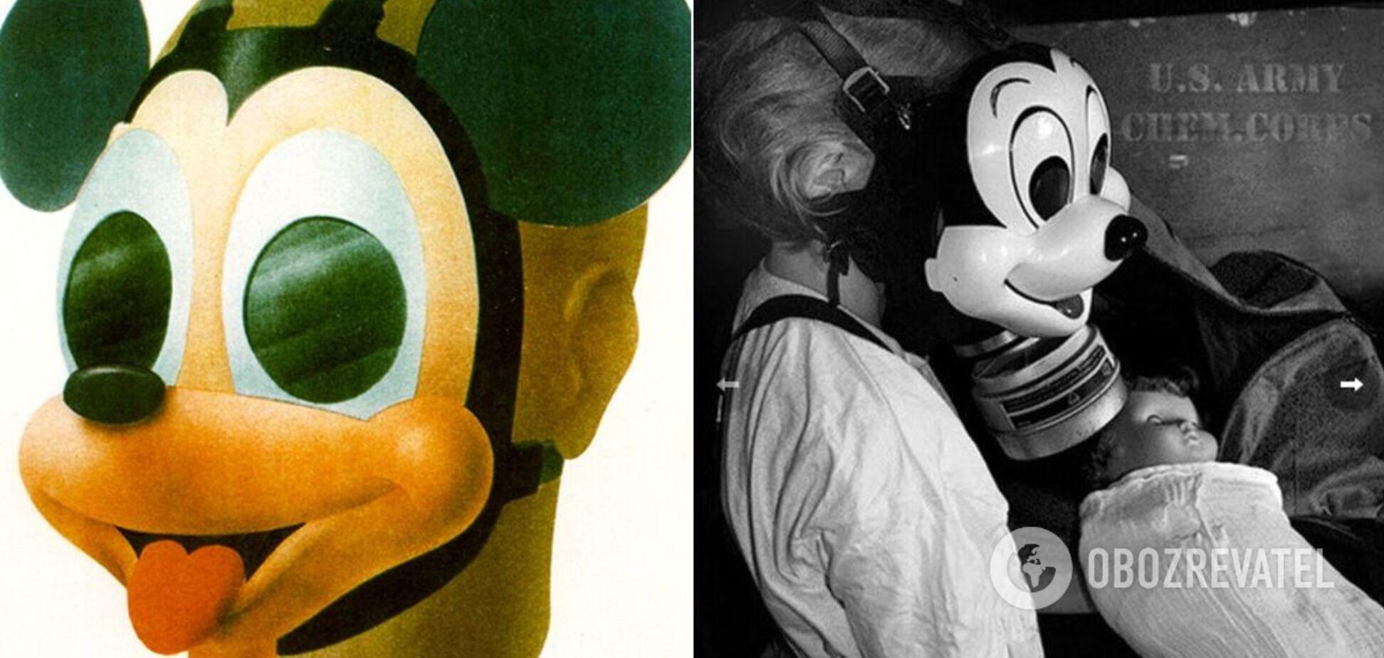 Противогаз в виде Микки Мауса создал Уолт Дисней