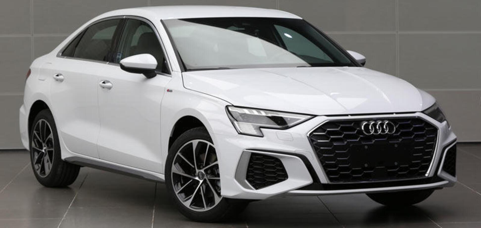 Новый седан Audi A3 удлинили для Китая