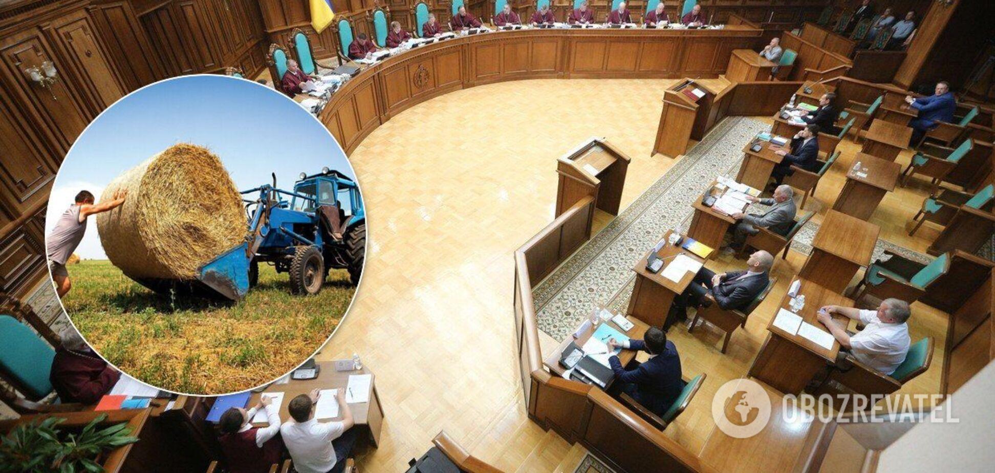КСУ не ухвалив рішення щодо земельної реформи в Україні