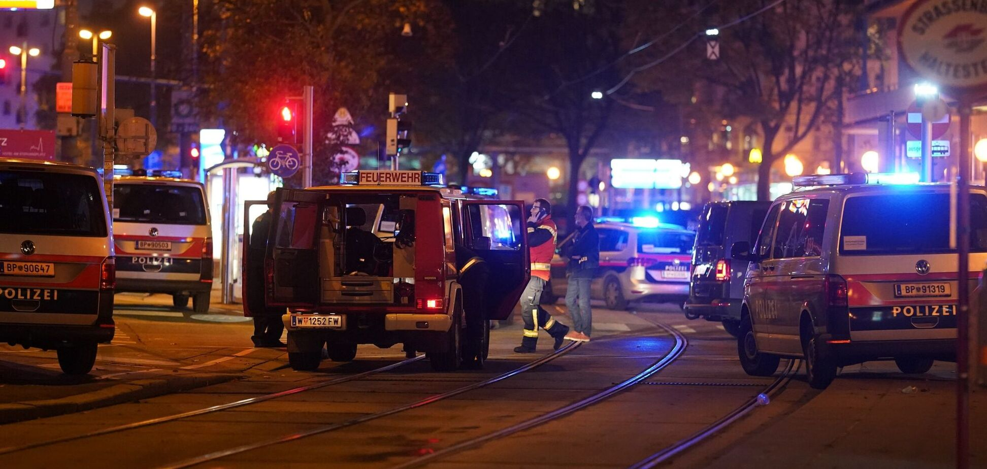 В Вене правоохранители провели задержание подозреваемых в теракте
