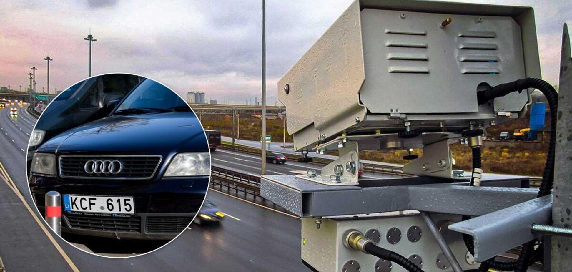 Система автофіксації порушень ПДР почала 'відловлювати' авто на іноземній реєстрації