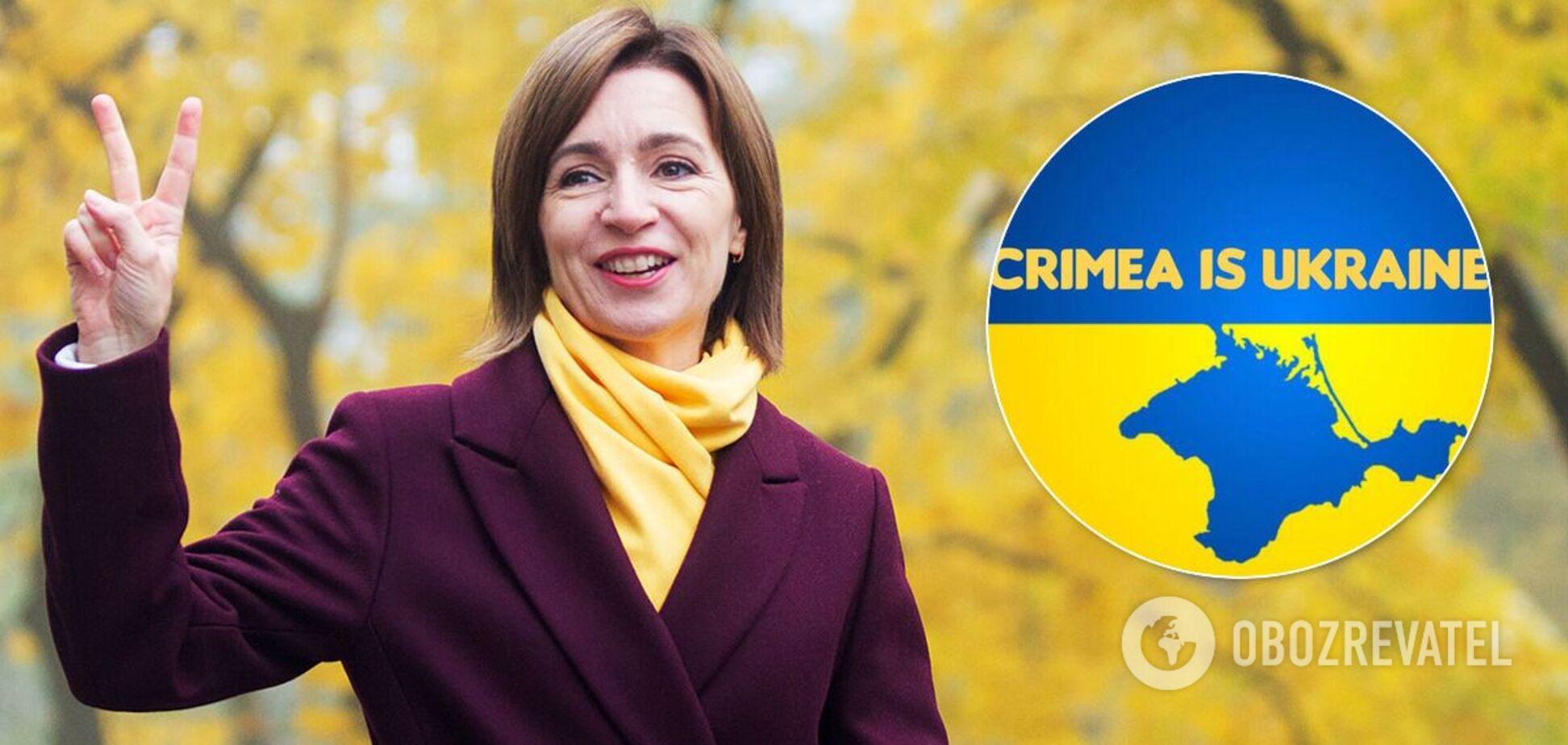 Санду заявила, що Крим – це Україна