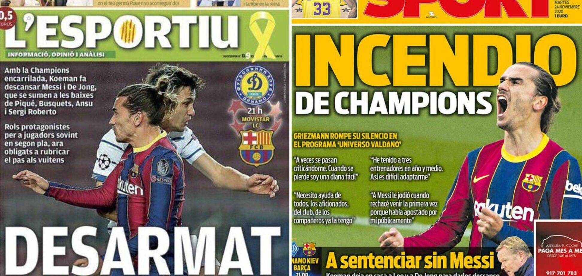 Іспанська преса 'по-російськи' осоромилася з 'Динамо' перед матчем з 'Барселоною'