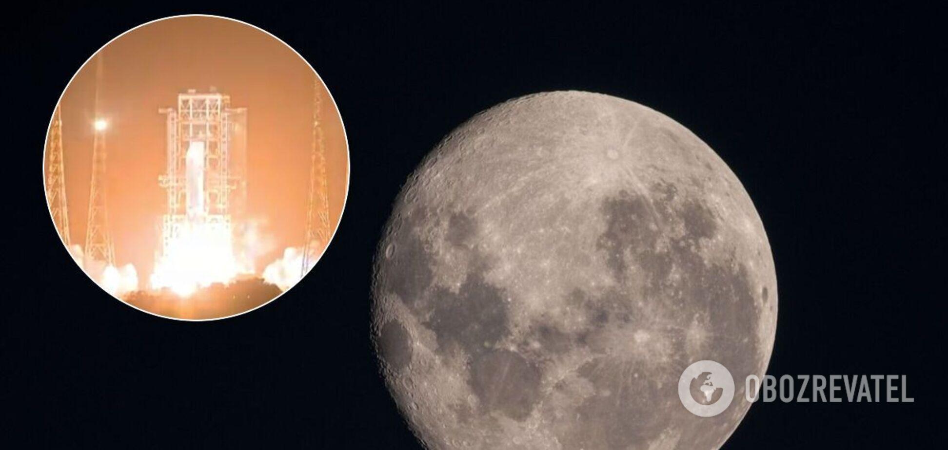 Китай запустив ракету з апаратом, який збере зразки на Місяці