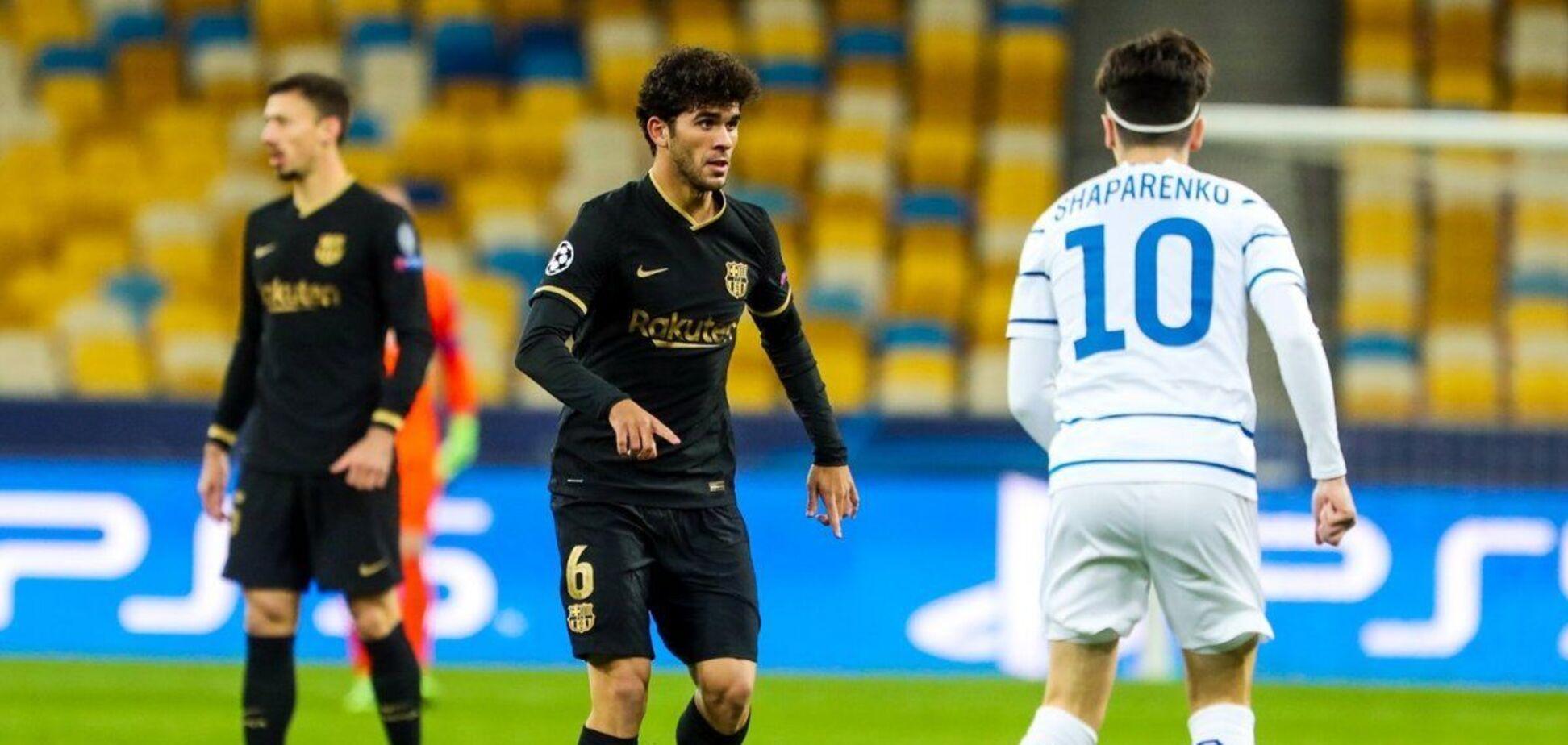 Николай Шапаренко против игрока 'Барселоны'