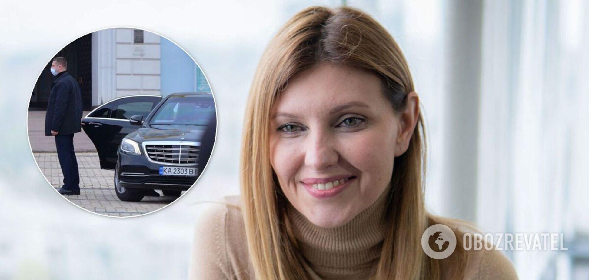 СМИ показали, как Зеленская на элитной машине ездит по Киеву, превышая скорость. Видео