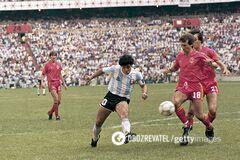 Гол Марадоны в ворота Бельгии на ЧМ-1986