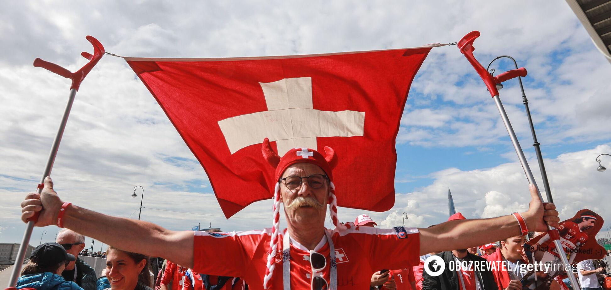 Фанаты сборной Швейцарии