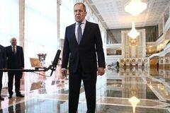 Российский министр иностранных дел Сергей Лавров встретился в Минске с Александром Лукашенко