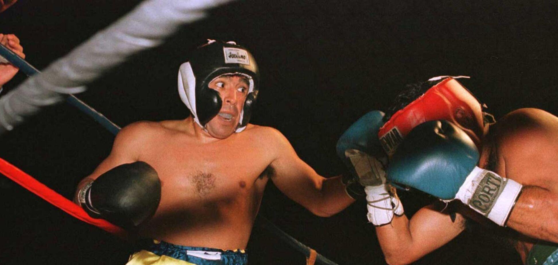 Дієго Марадона на рингу