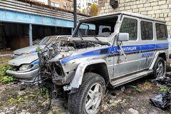 На свалке нашли брошенный полицейский Mercedes G-Class