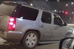 Водитель внедорожника показал, как будет ехать авто в случае потери одного колеса