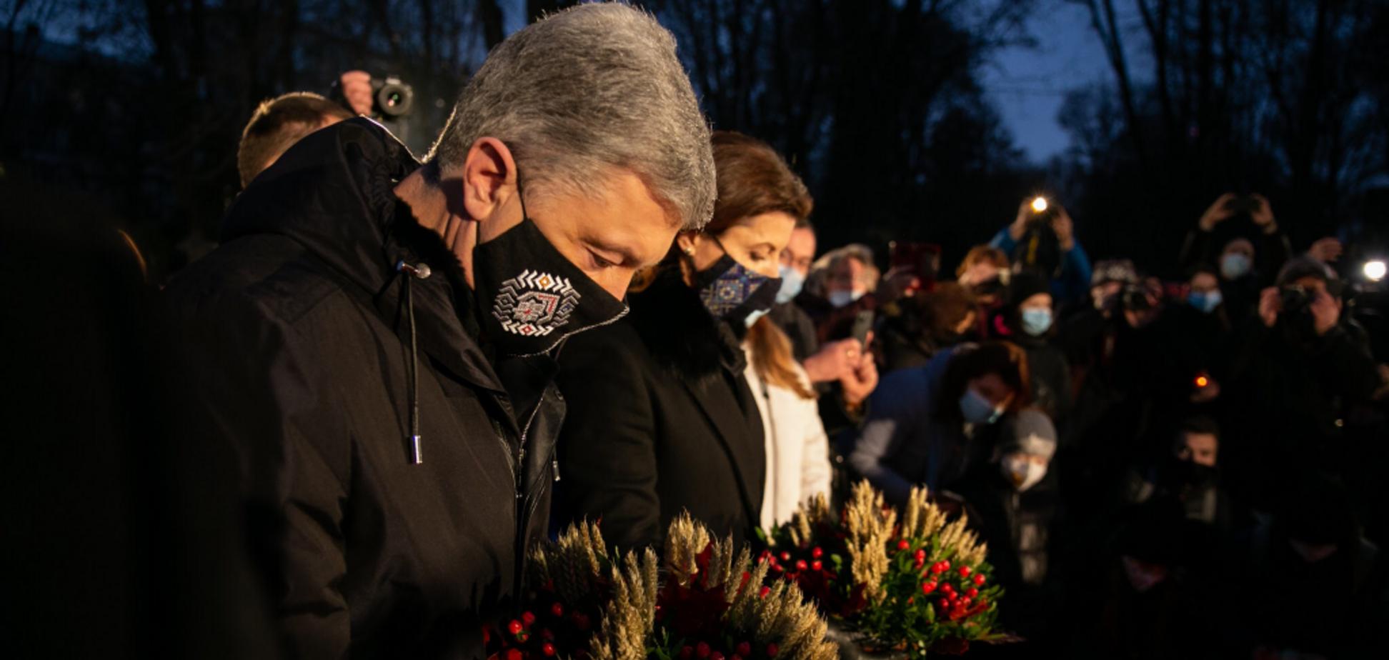 Петр и Марина Порошенко почтили память жертв Голодомора. Фото