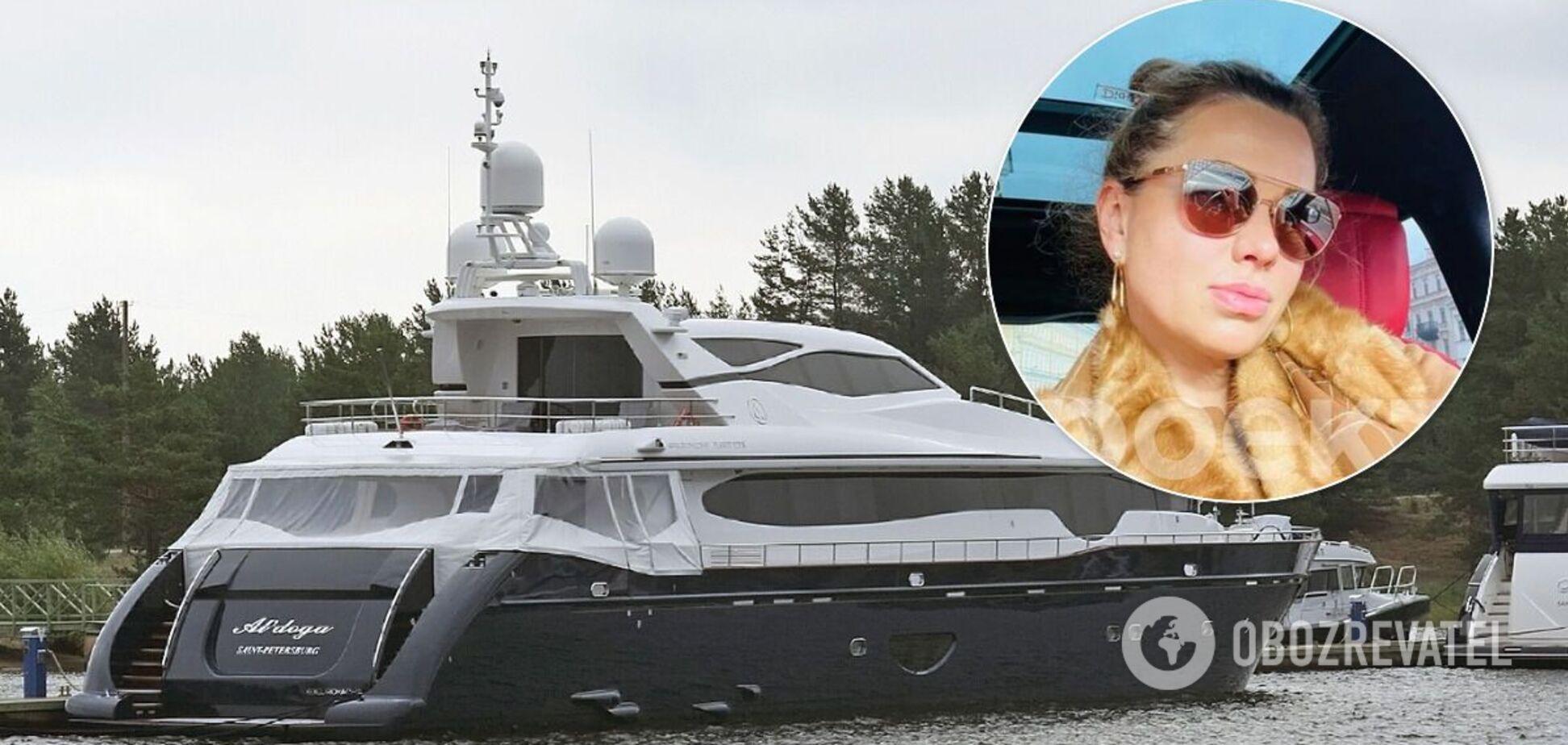 Світлана Кривоногих плаває на елітній яхті 'Альдога'