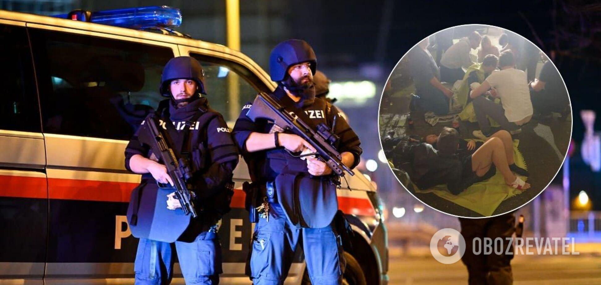 В Вене пострадали несколько человек во время теракта