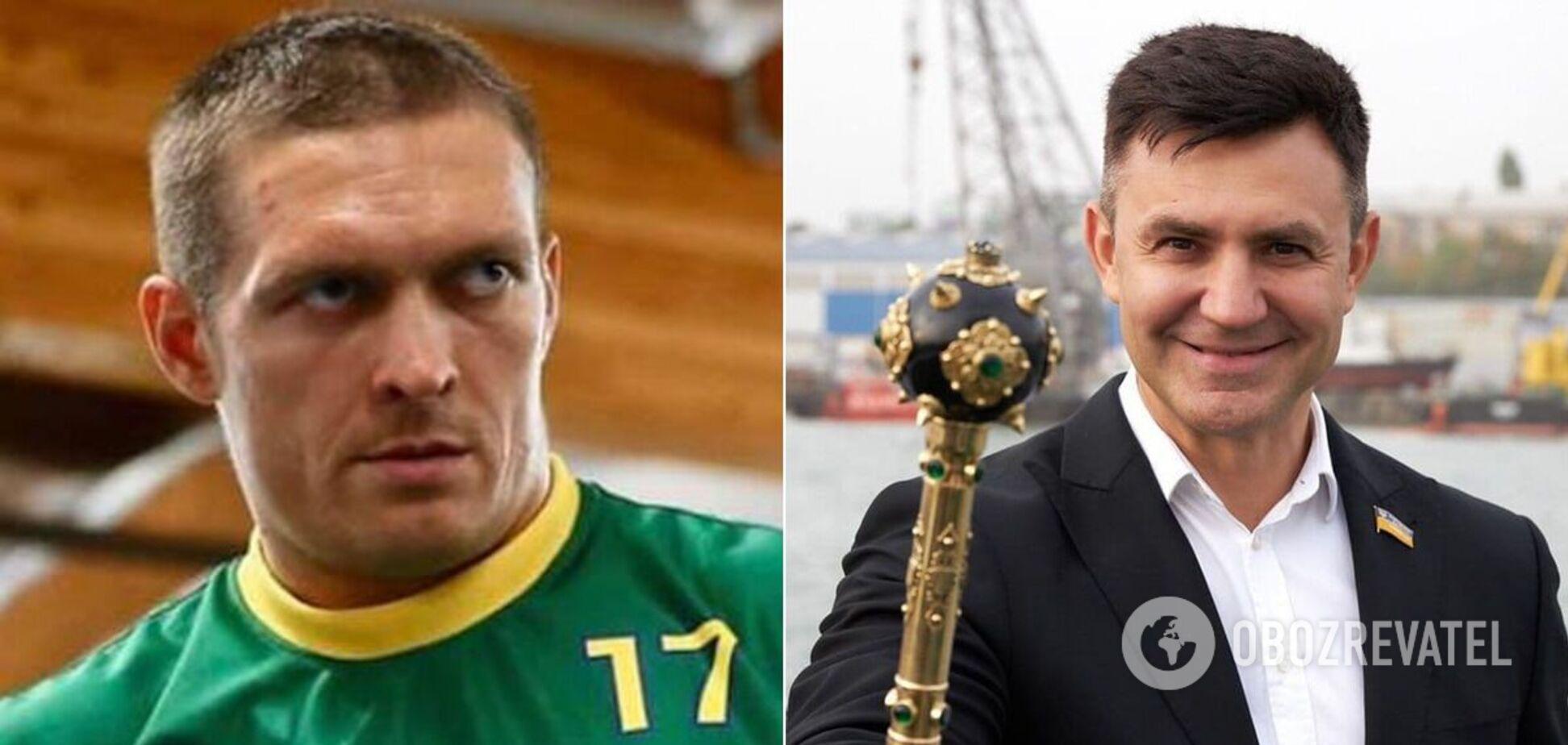 Тищенко с ошибками поздравил Усика с победой спустя два дня