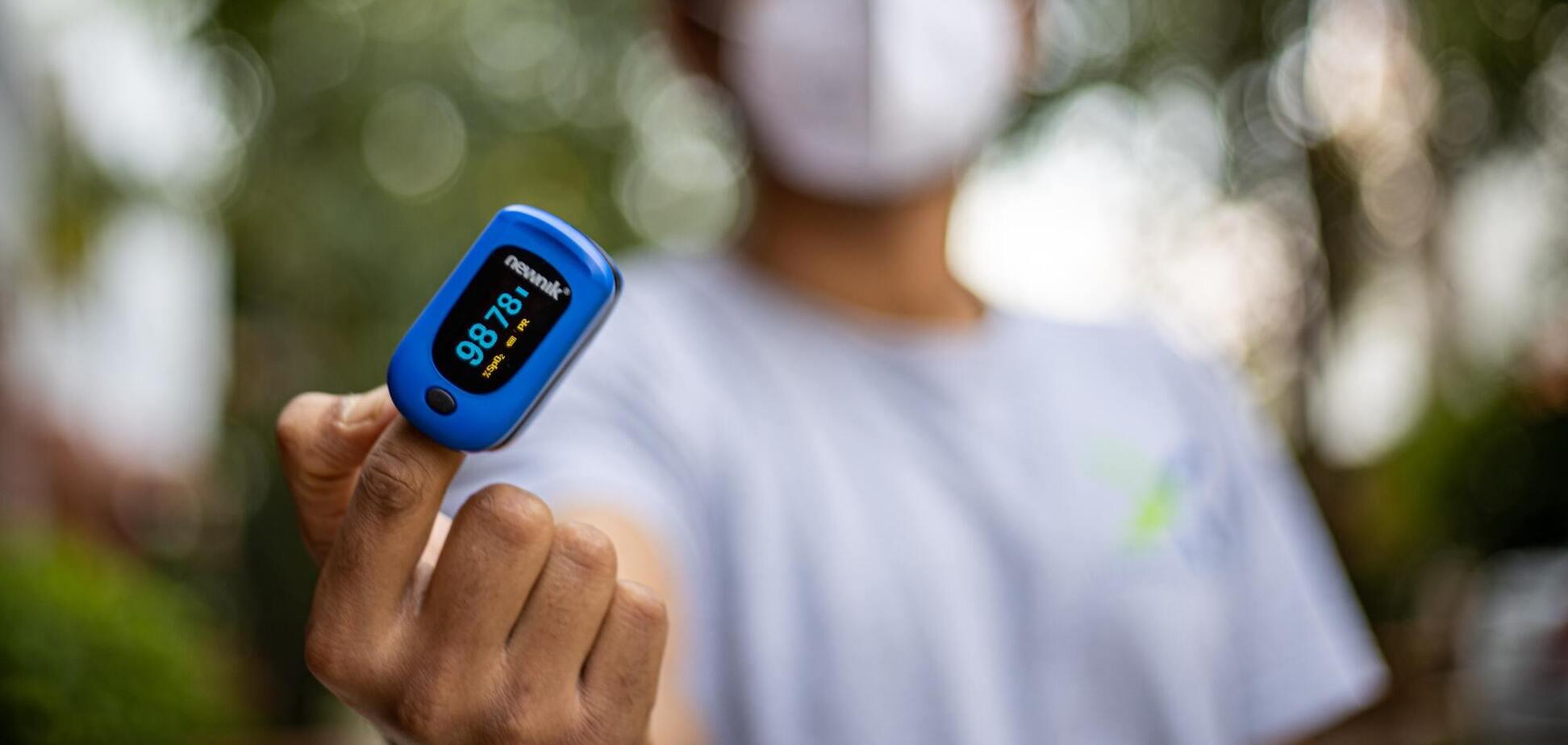 У Міністерстві охорони здоров'я українцям порекомендували придбати пульсоксиметр