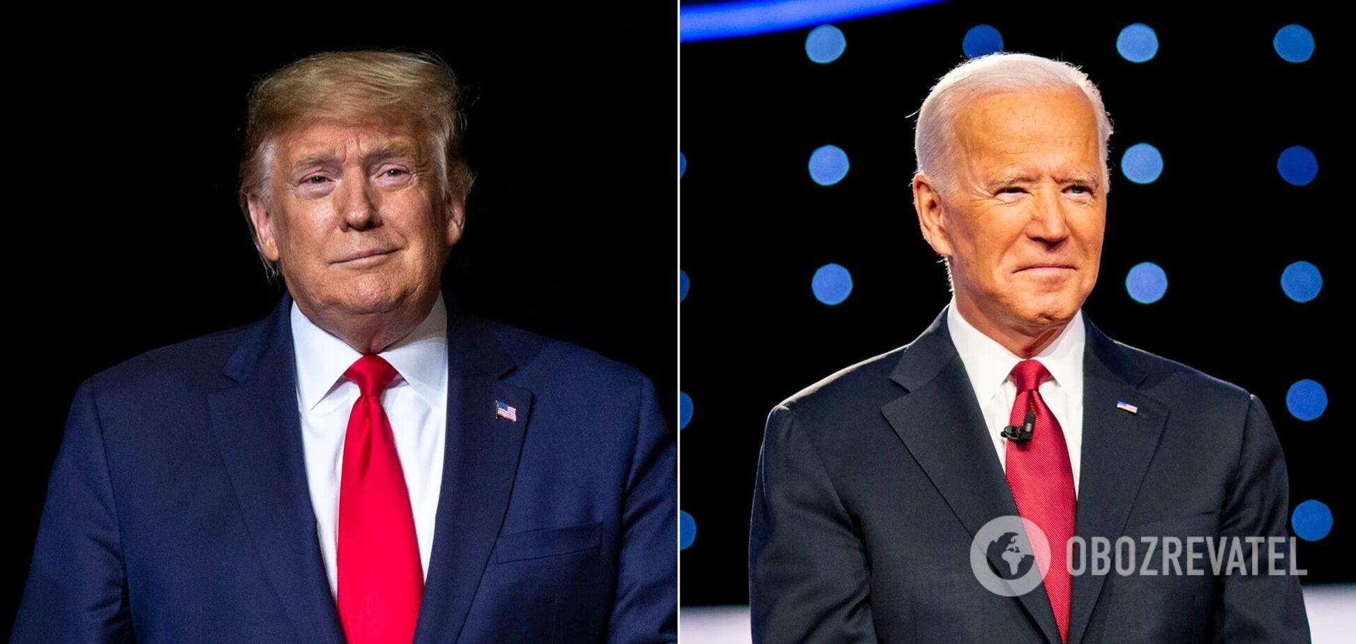З'явилися перші результати голосування за Дональда Трампа і Джо Байдена