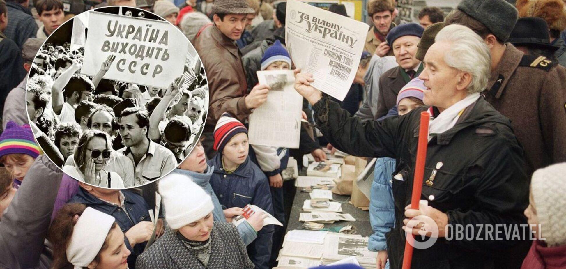 90,32% тих, хто проголосував на референдумі 1991 року, підтримали незалежність України