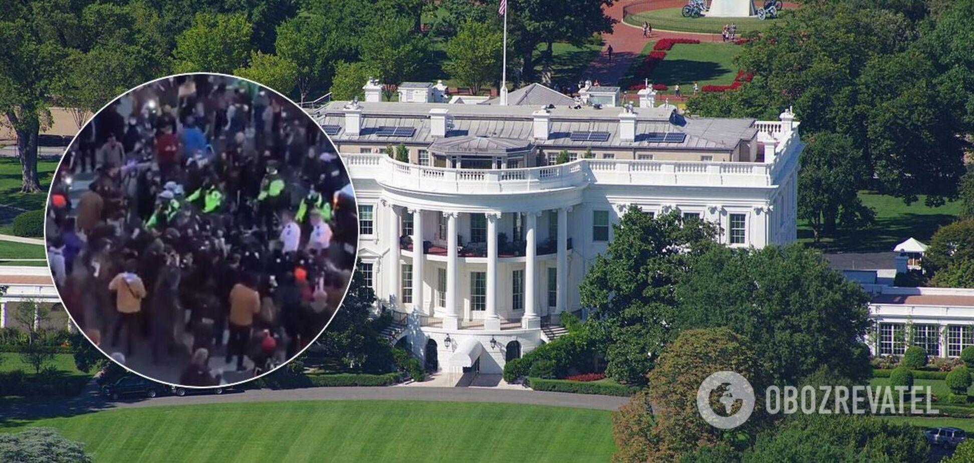 Біля Білого дому в США сталися сутички, є затриманий. Фото та відео
