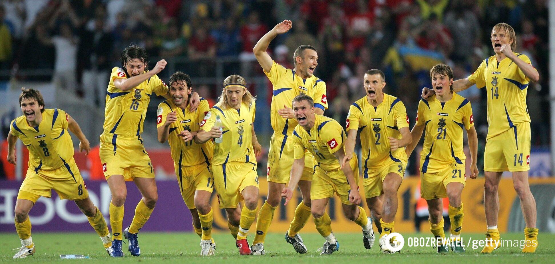 Радість гравців збірної України після перемоги над Швейцарією в серії пенальті на ЧС-2006