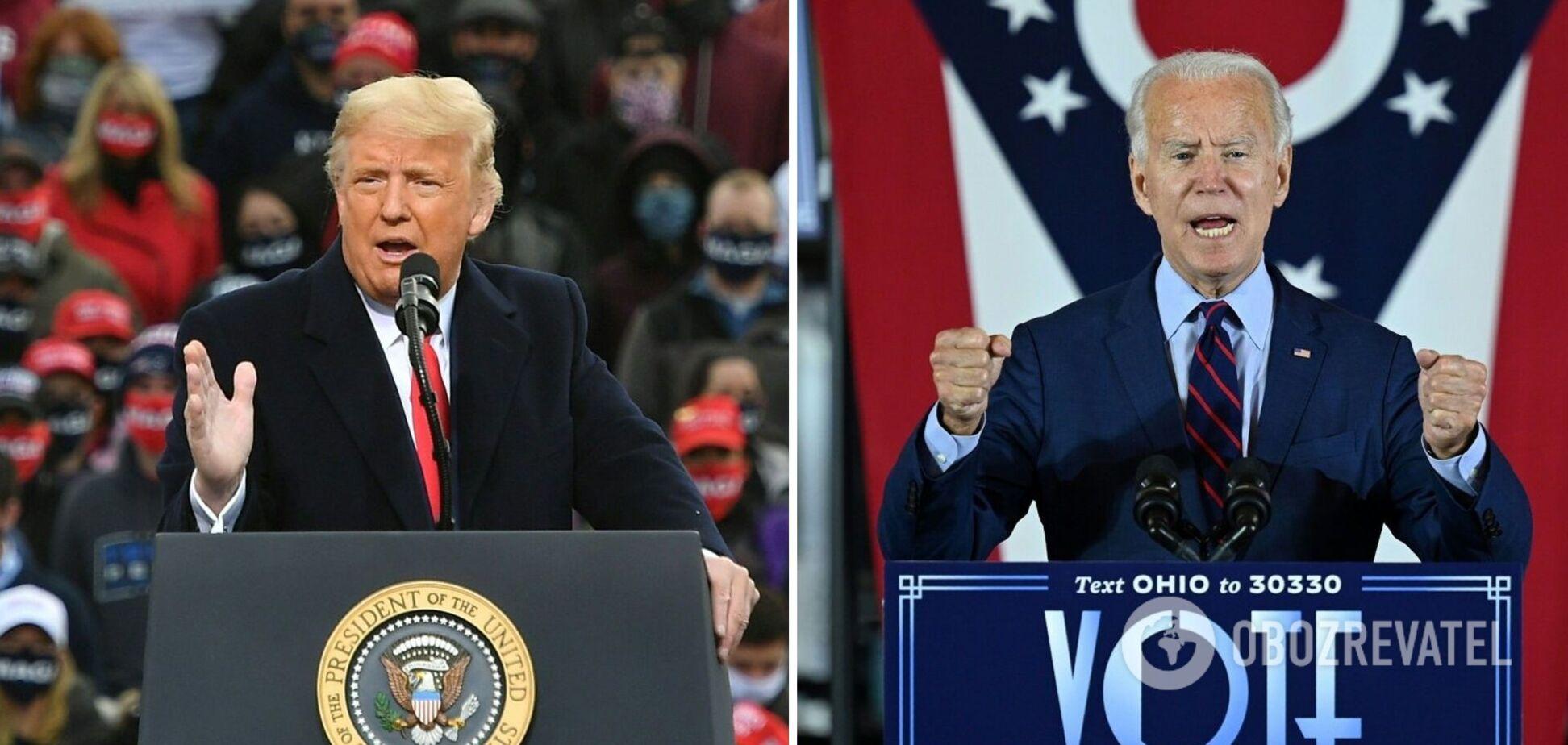 Вибори в США може виграти Джо Байден, а Дональд Трамп програє