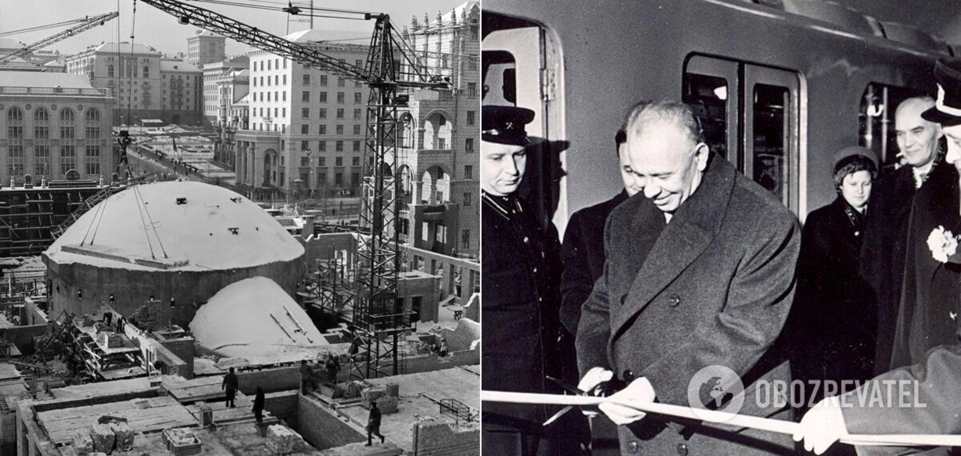 У 1960 році було відкрито першу чергу метро Києва