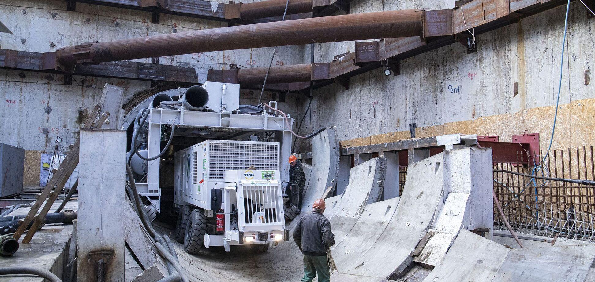 Как строят метро на Виноградарь в Киеве: видео из тоннеля