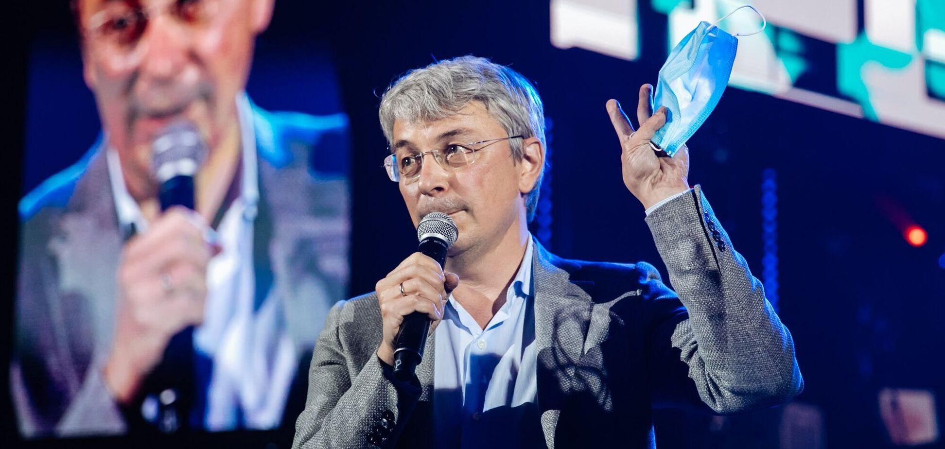 Александр Ткаченко выступил на концерте как организатор мероприятия