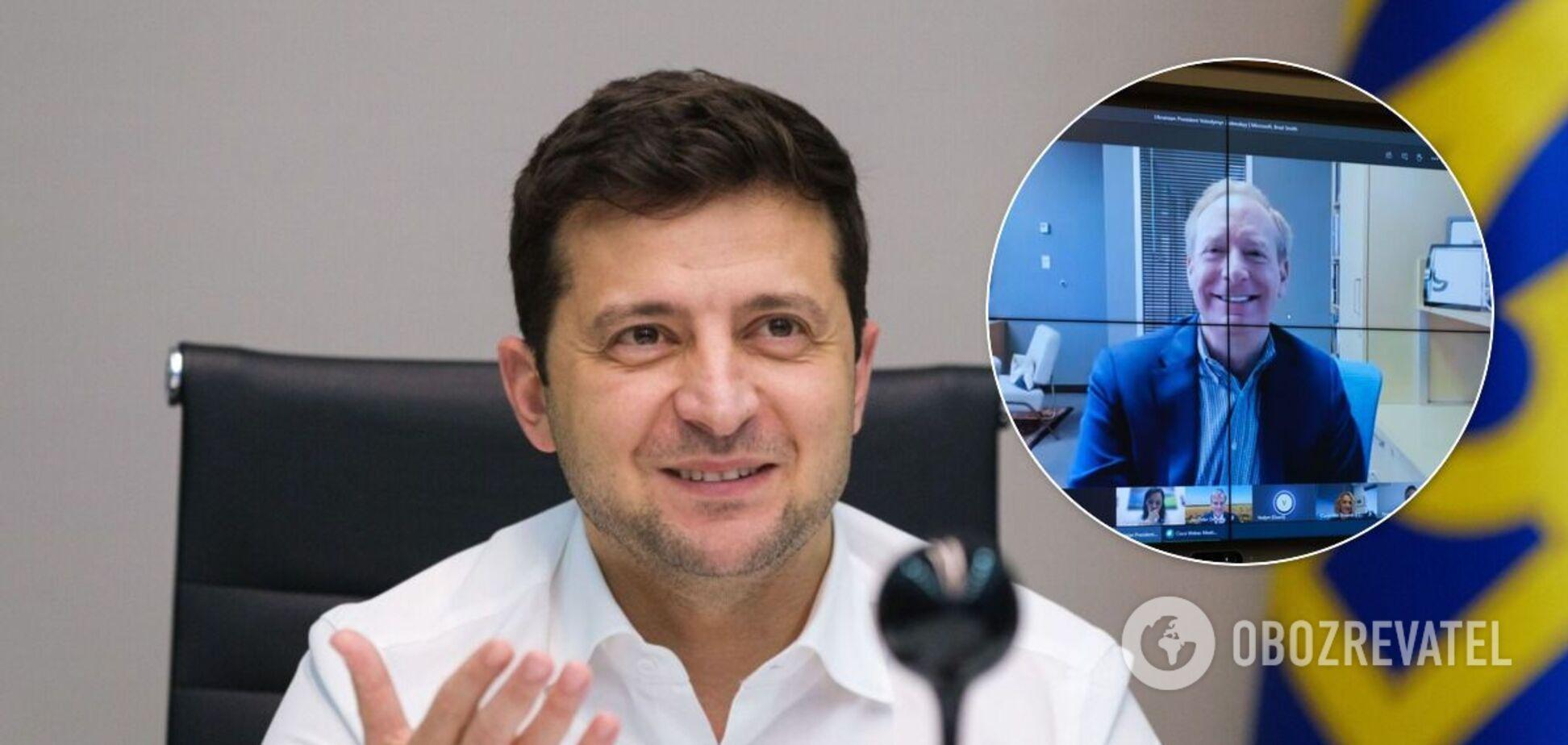 Зеленський провів переговори з президентом Microsoft