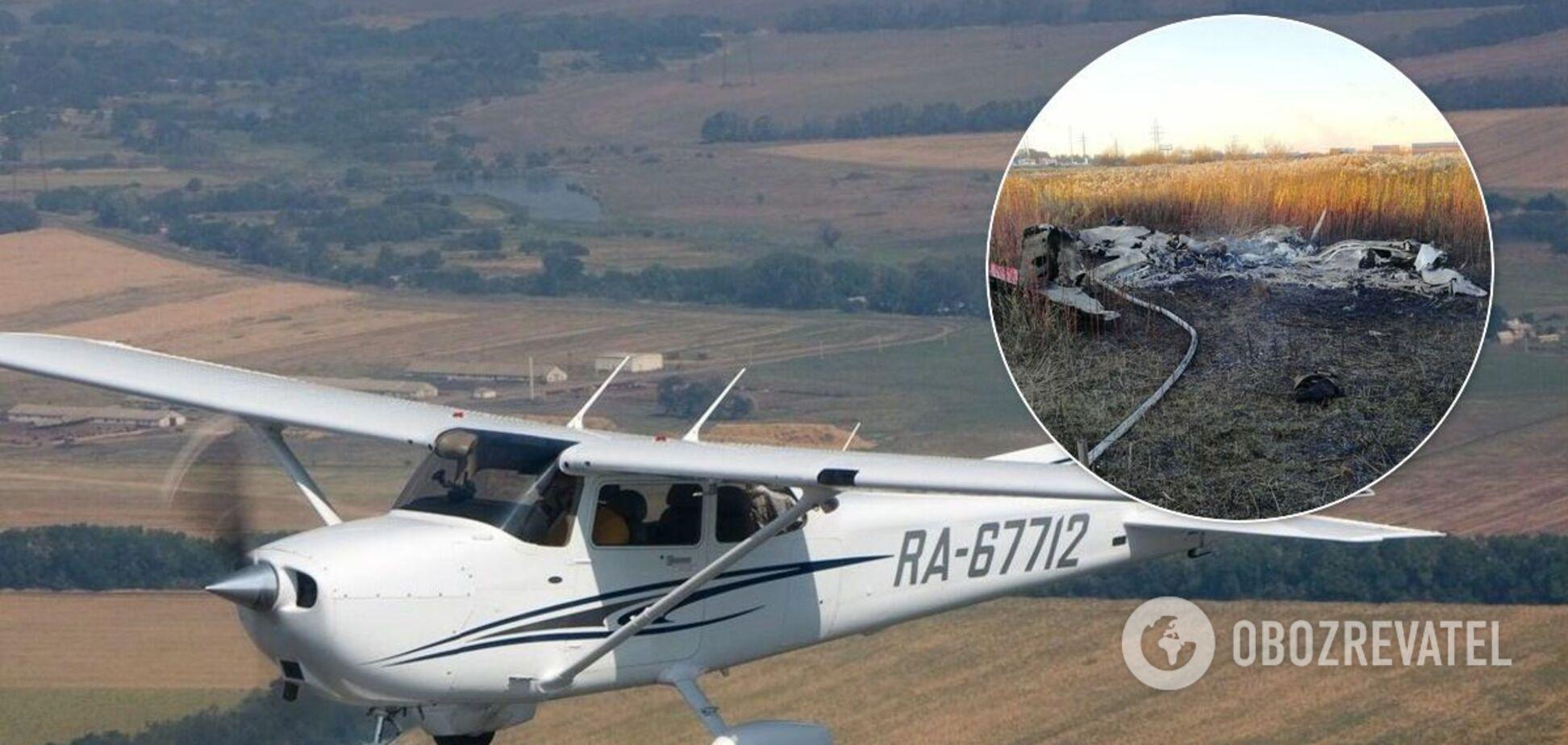 В России разбился легкомоторный самолет, есть погибшие. Видео