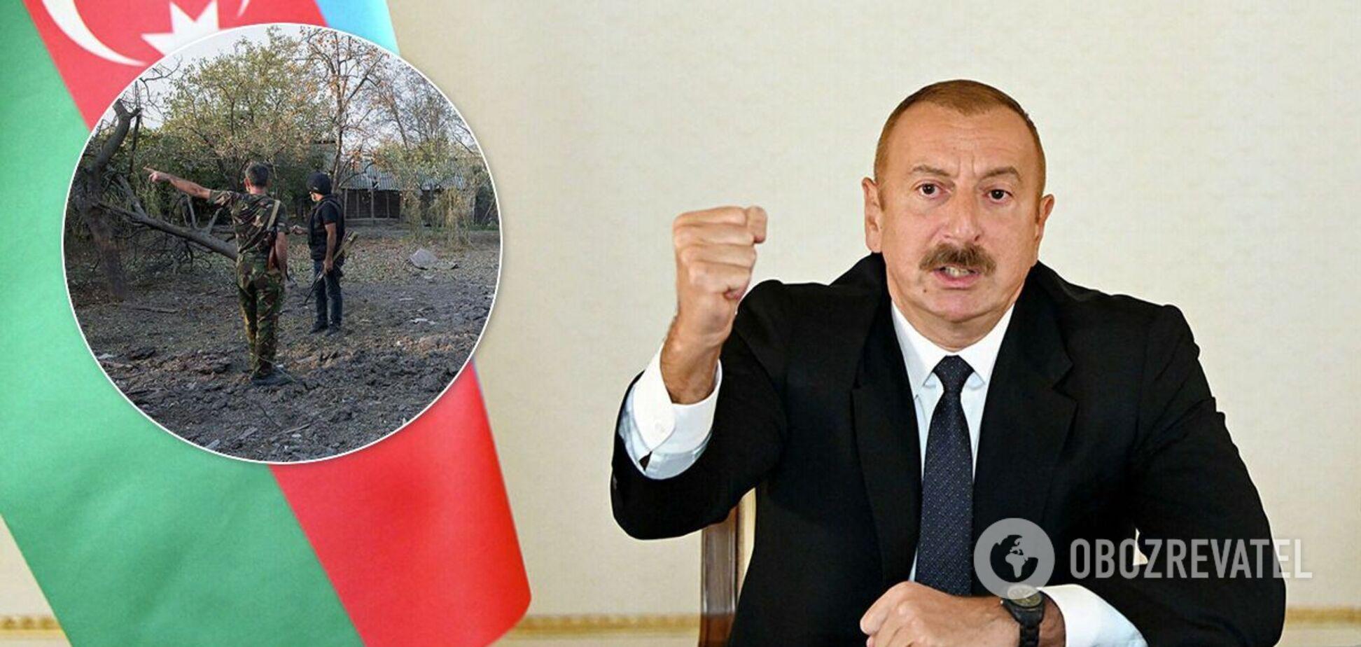 Алиев заявил о взятии города Шуша