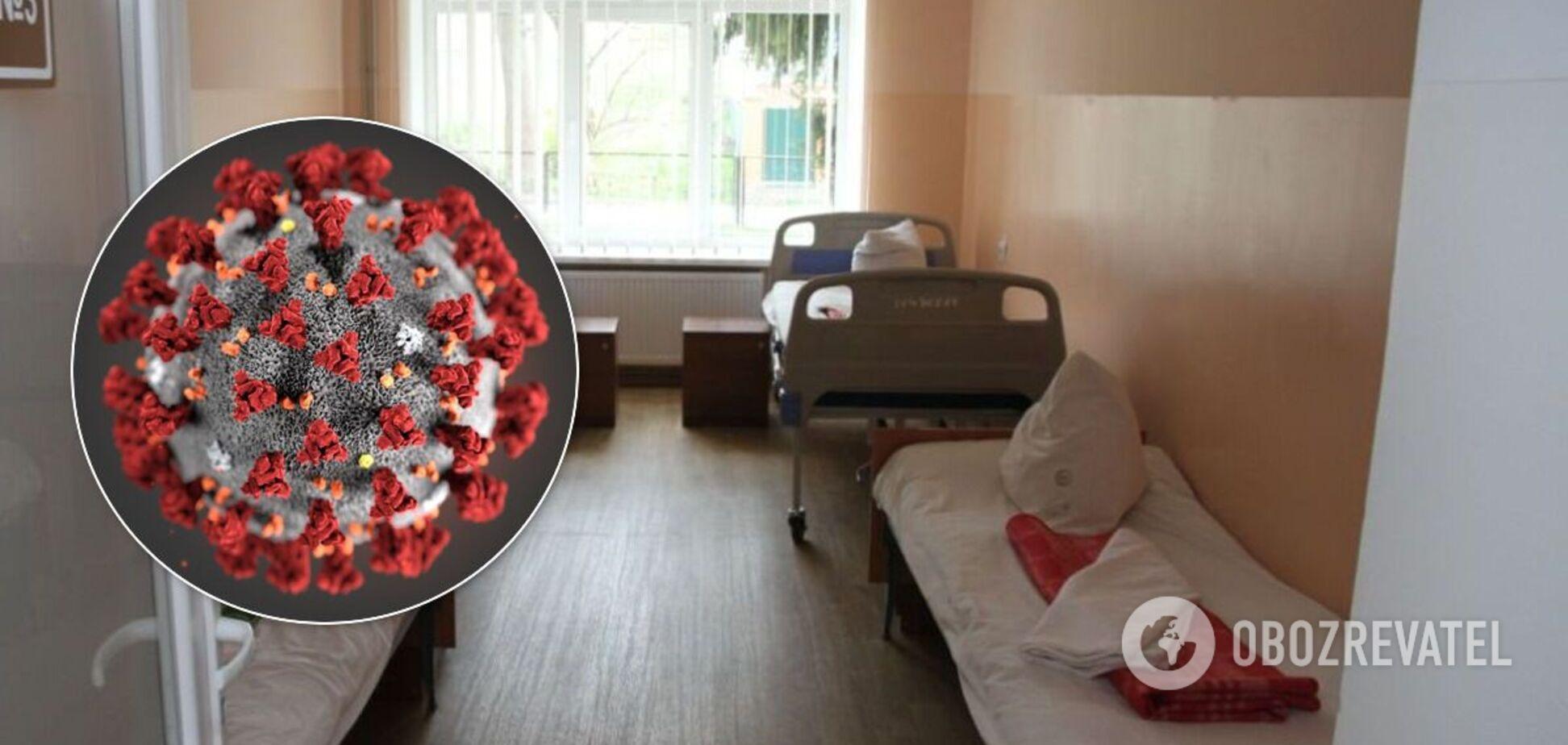 На Полтавщине в больнице пациентов с COVID-19 переносили на руках. Видео