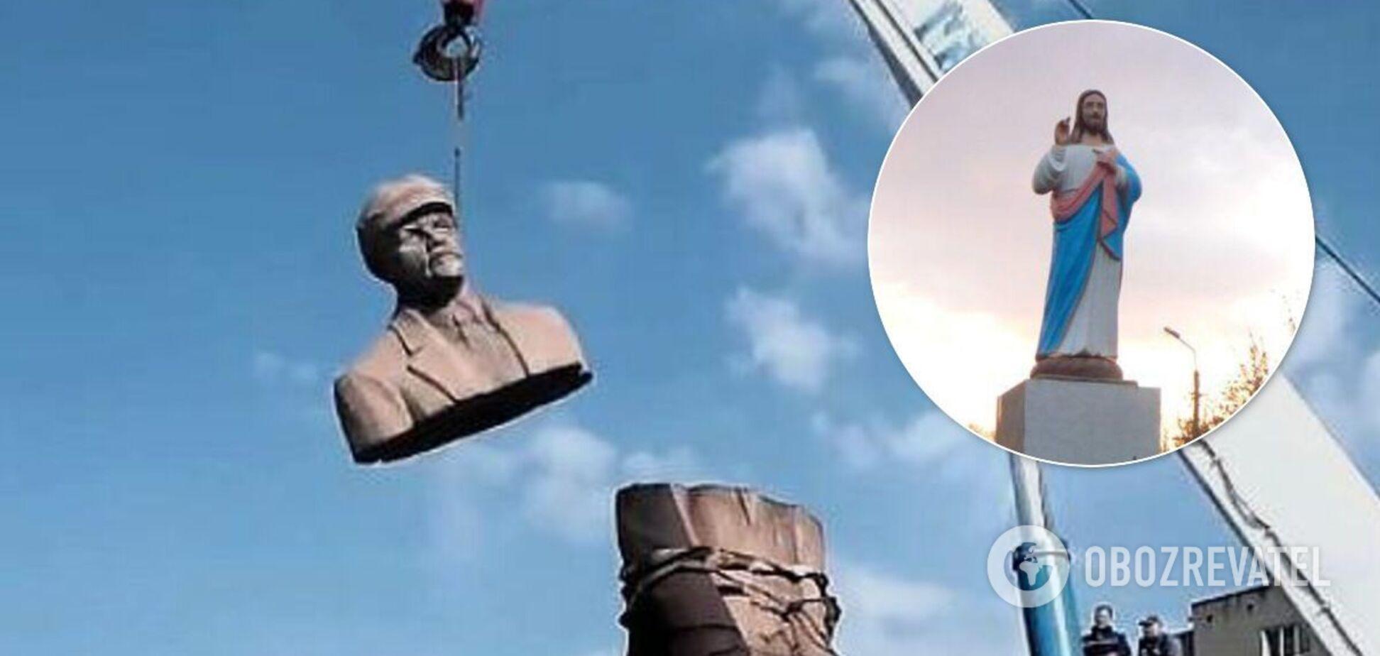 Під Запоріжжям знайшли спосіб декомунізувати пам'ятник Леніну