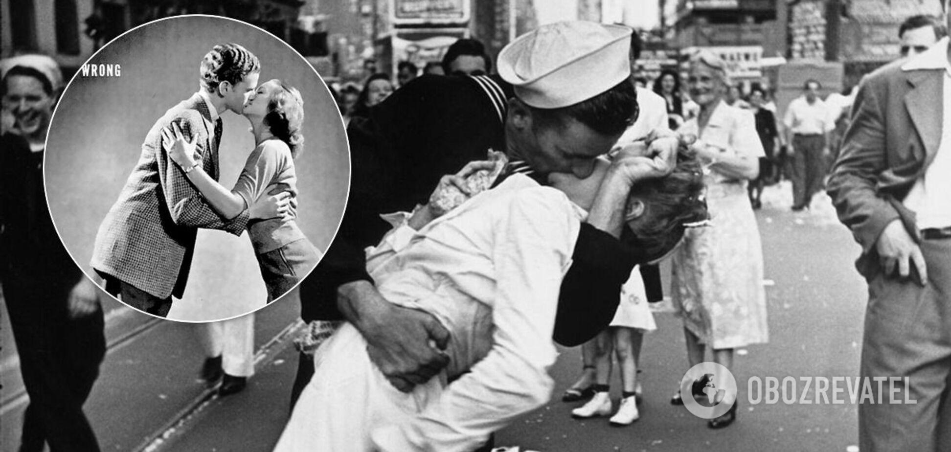 Как правильно целоваться: руководство из журнала Life 1942 года. Фото