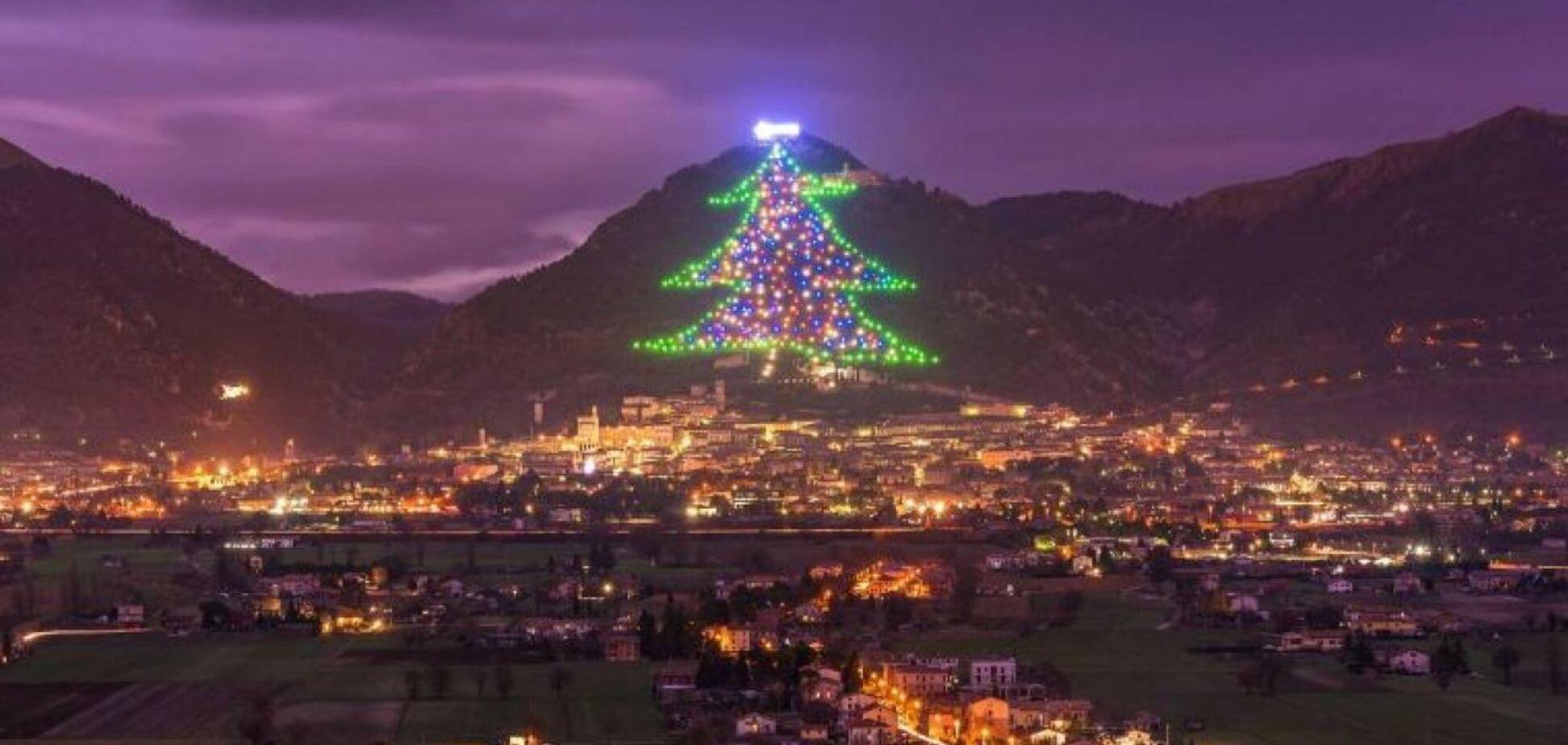 Найбільша у світі світлова інсталяція новорічної ялинки