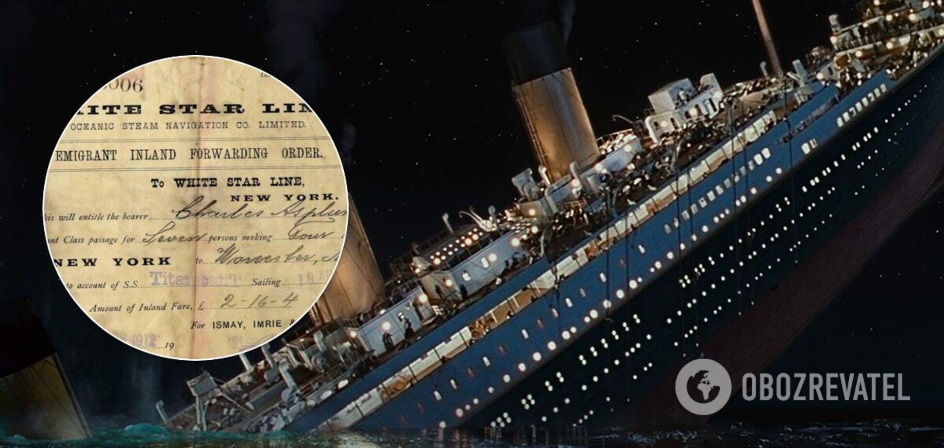 Опубликован билет на 'Титаник' последнего выжившего пассажира