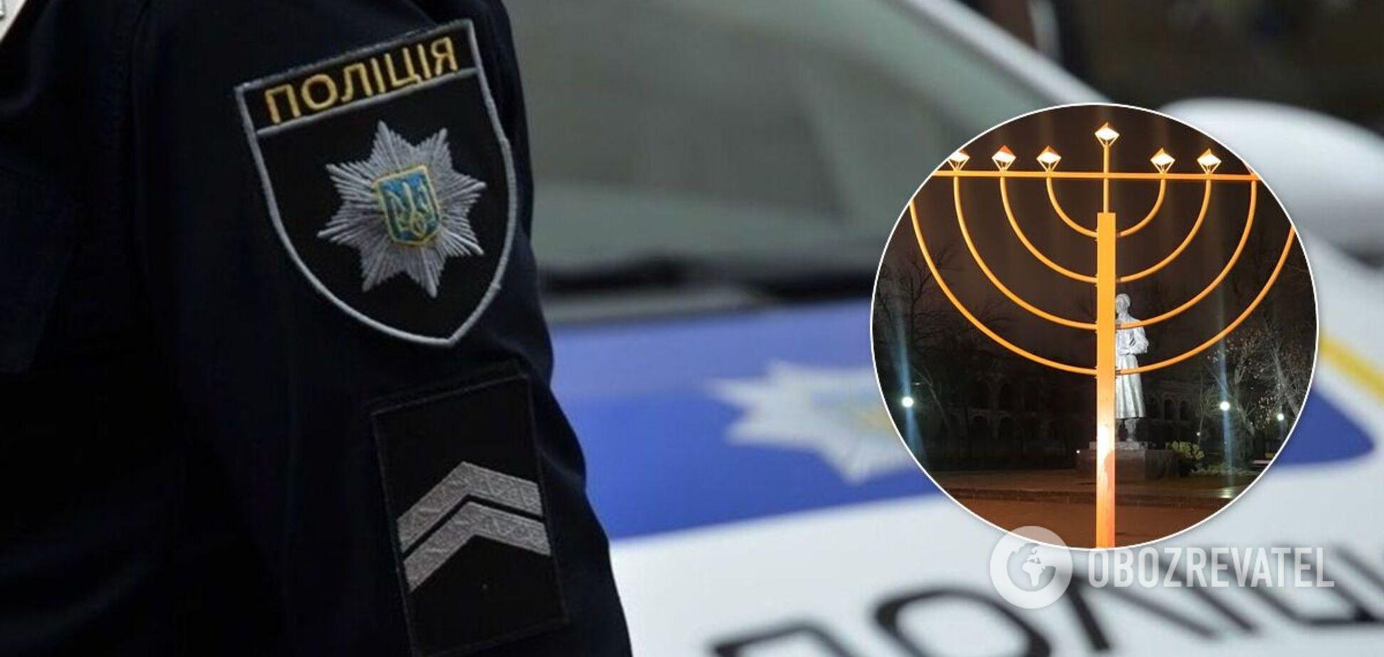 Киянину, якийповалив ханукальний світильник, оголосили підозру: що загрожує