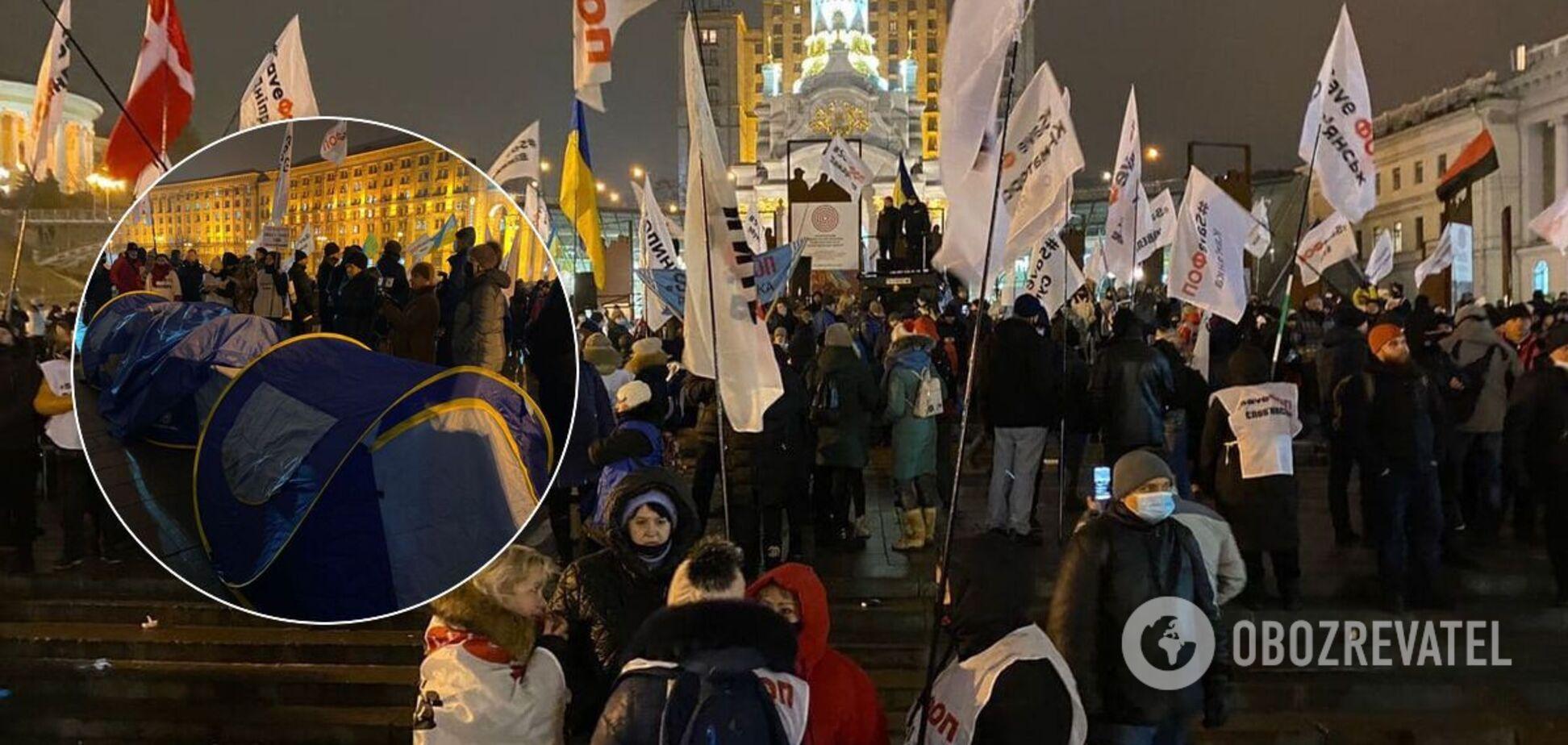 Протест предпринимателей на Майдане