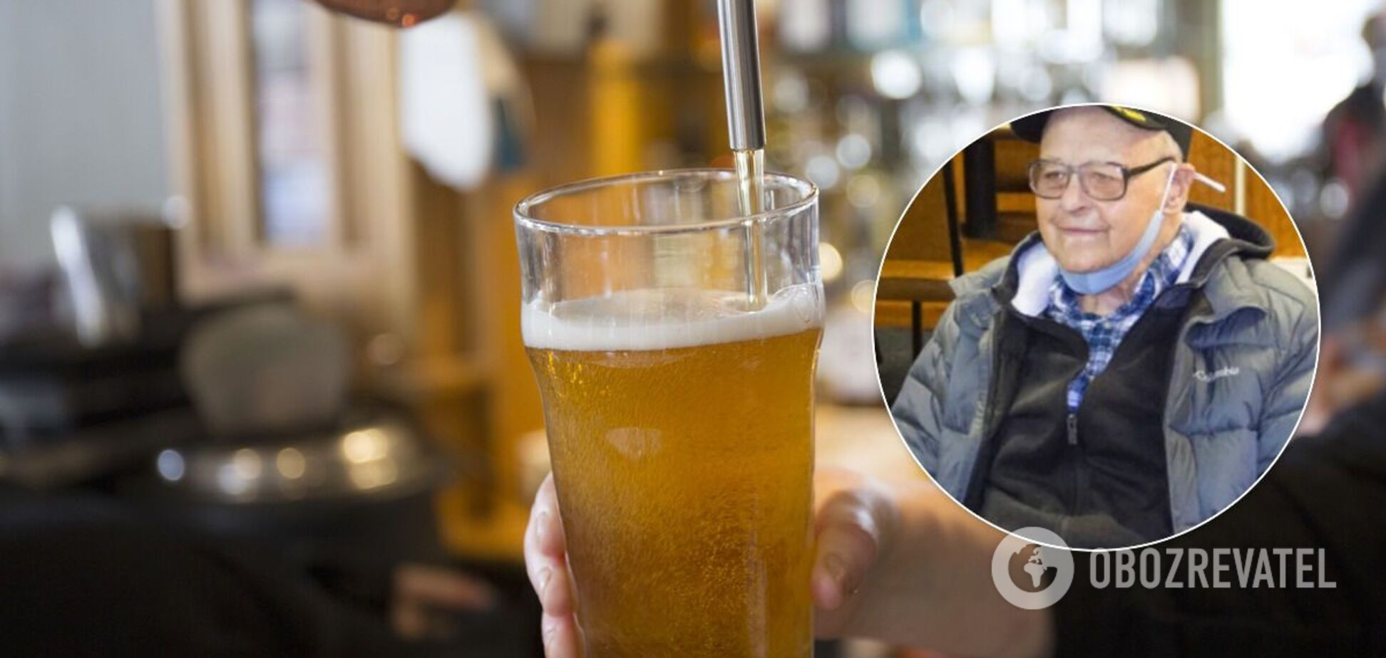 103-летний мужчина назвал секретом долголетия пиво