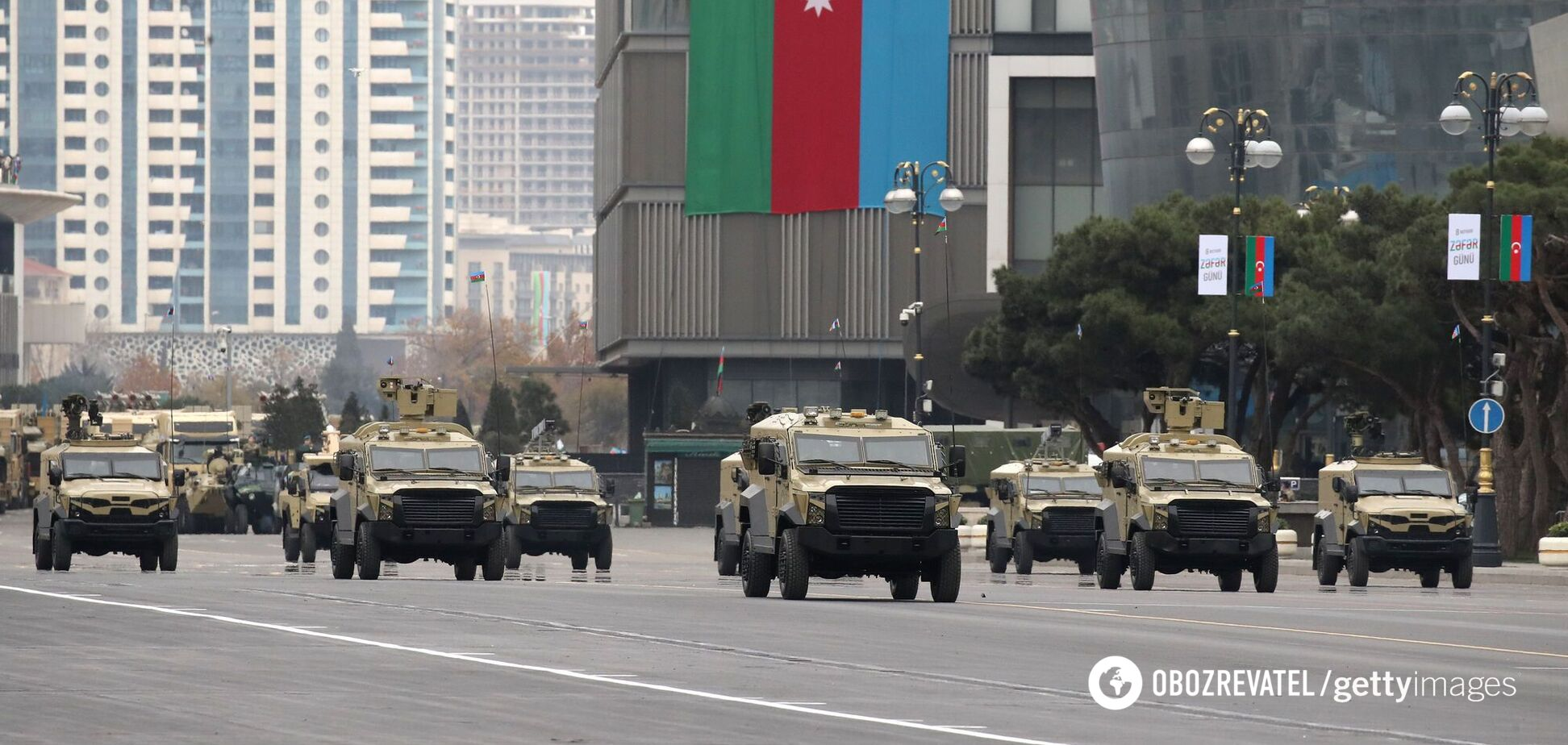 У Баку пройшов військовий парад, присвячений закінченню війни в Нагірному Карабасі