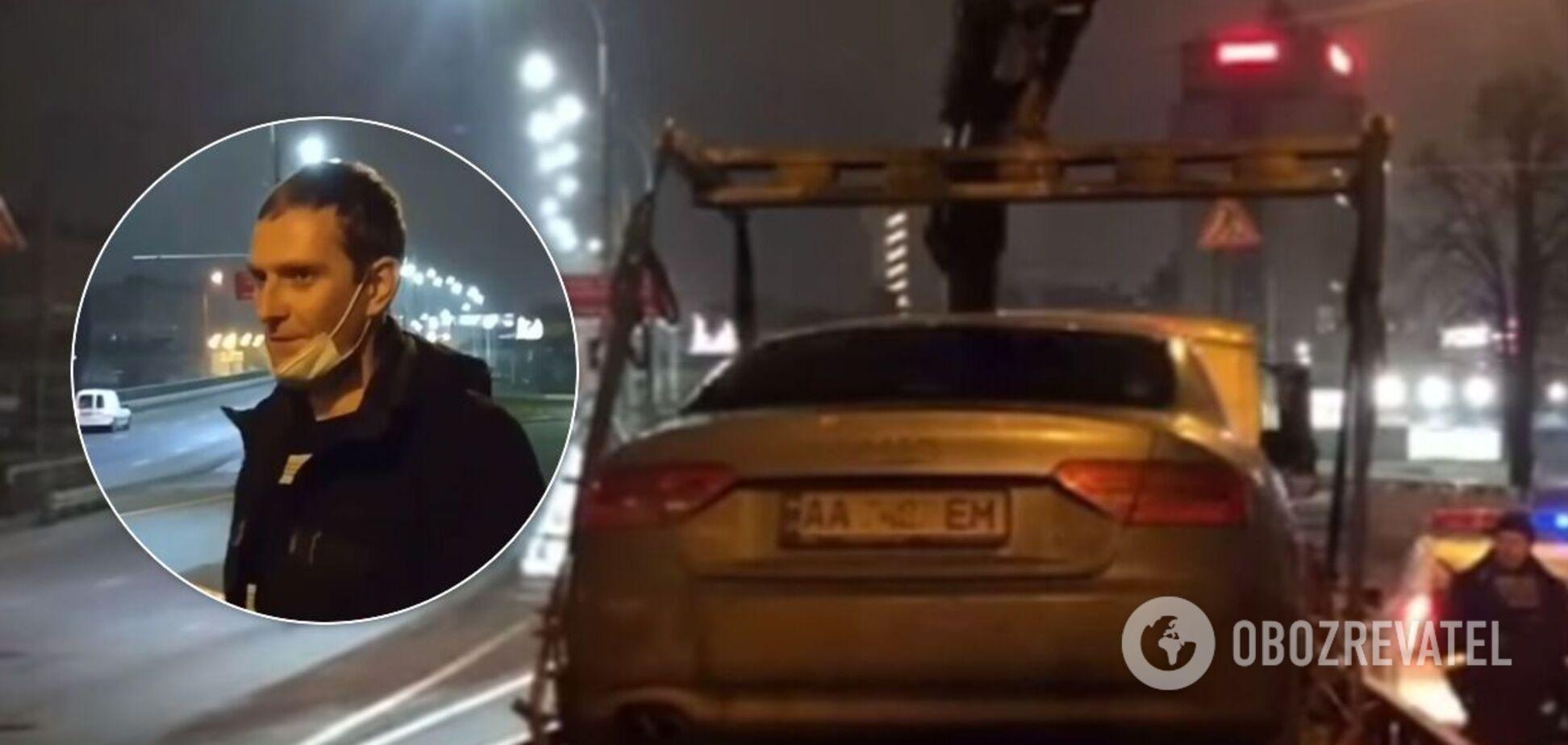 По Києву катався водій під наркотиками на розбитому авто