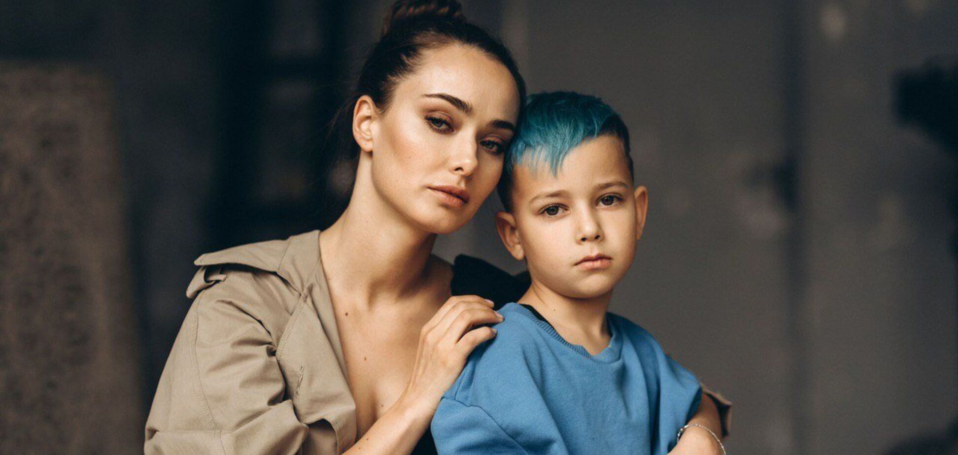 Ксения Мишина с сыном Платоном