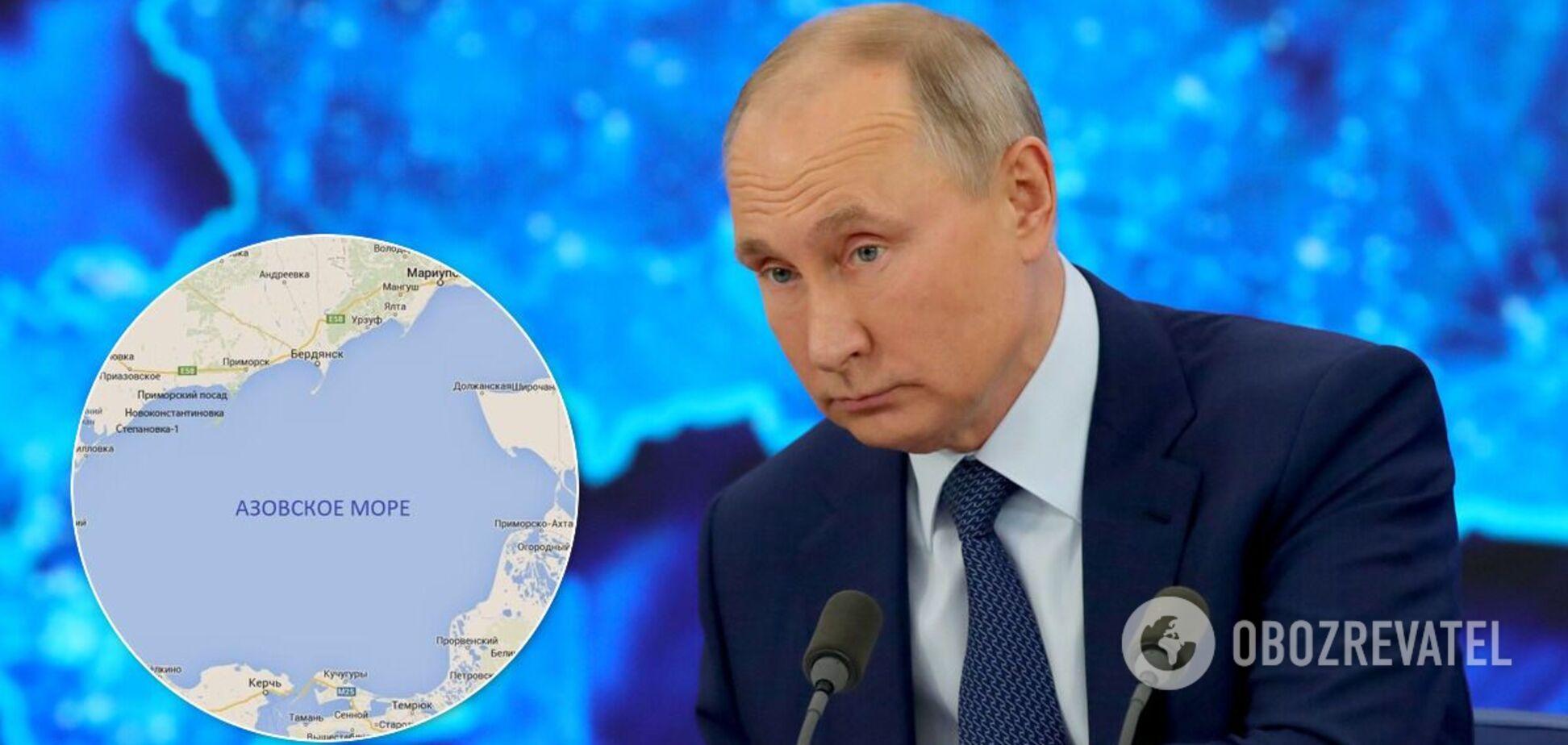 Путін заявив про великі запаси прісної води під Азовським морем